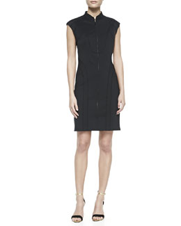 Laundry by Shelli Segal Cap-Sleeve Scuba Sheath Dress