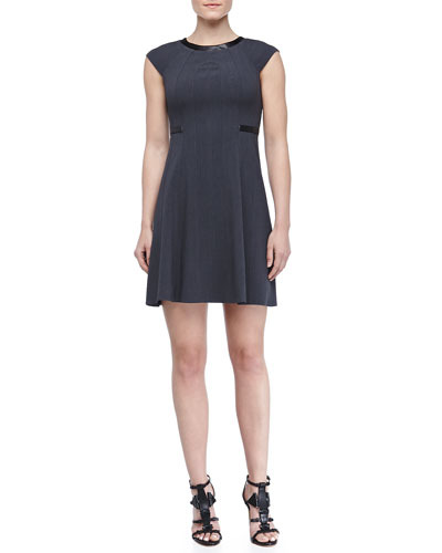 Laundry by Shelli Segal A-line Vertical-Seam Dress