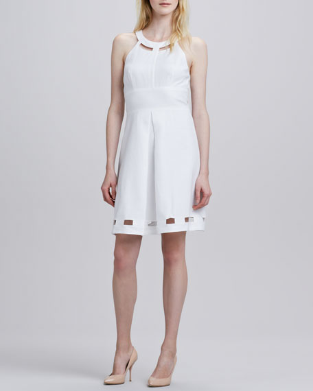 Laundry by Shelli Segal Halter Cutout Flare Dress