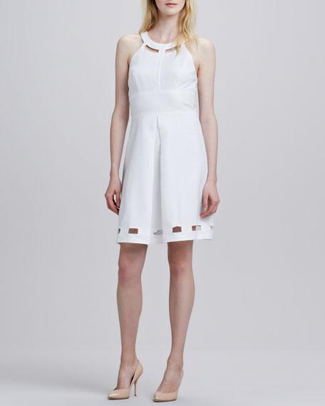 Halter Cutout Flare Dress