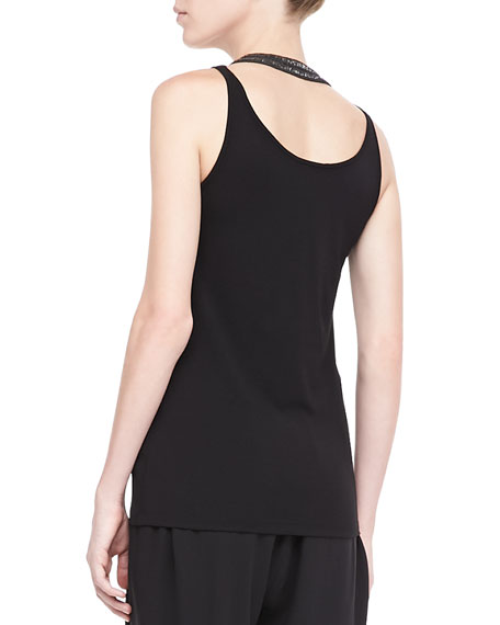 Silk Jersey Long Slim Camisole, Women's
