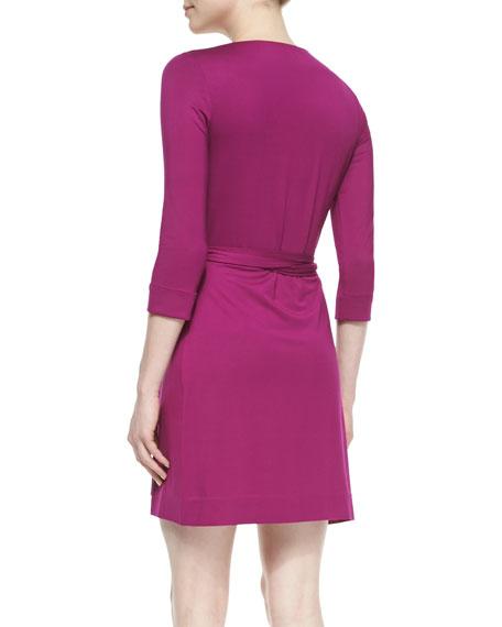 New Julian Two Mini Wrap Dress, Lotus Berry