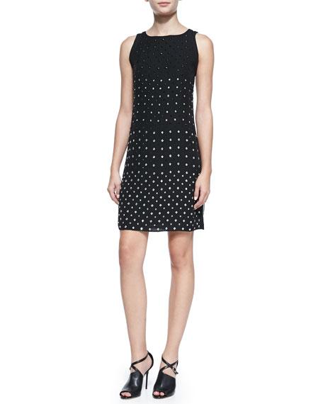 Ella Sleeveless Jewel-Studded Dress