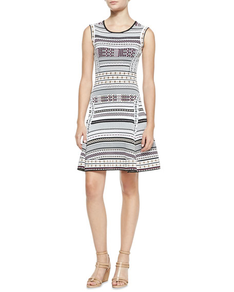 Eleanor Printed Knit Sleeveless Dress