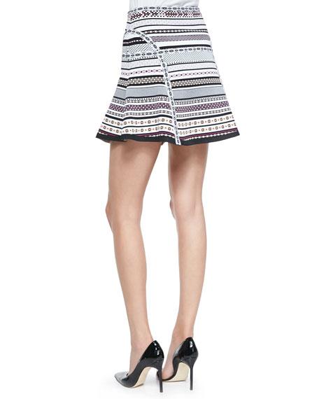 Flote Banded Dot Flounce Skirt