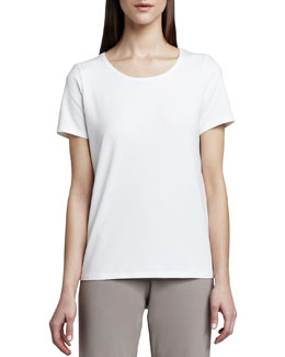 Eileen Fisher Stretch Organic Cotton Tee