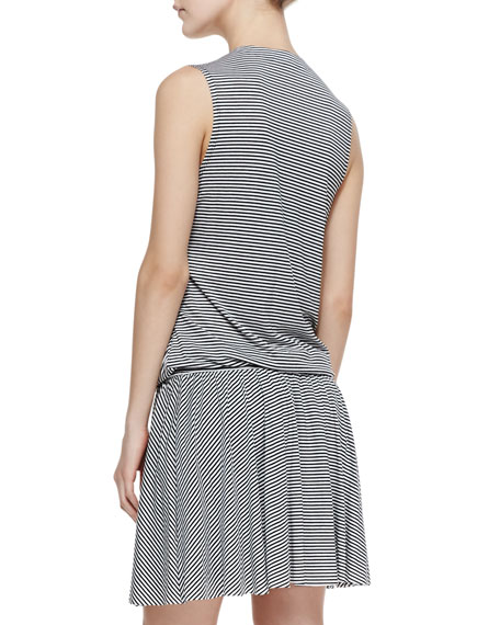 Wrap Stripe Jersey Dress