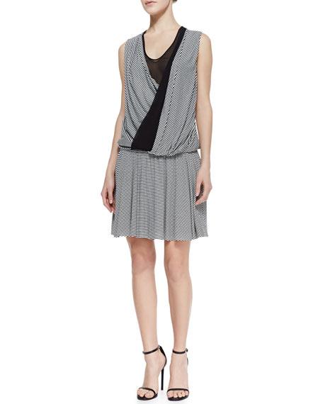 Wrap Stripe Jersey Dress