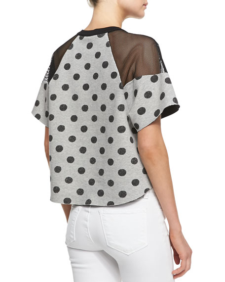 Batik-Dot Jersey Sweatshirt