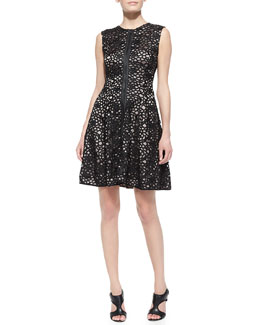 T Tahari Carrera Sleeveless Lace Dress