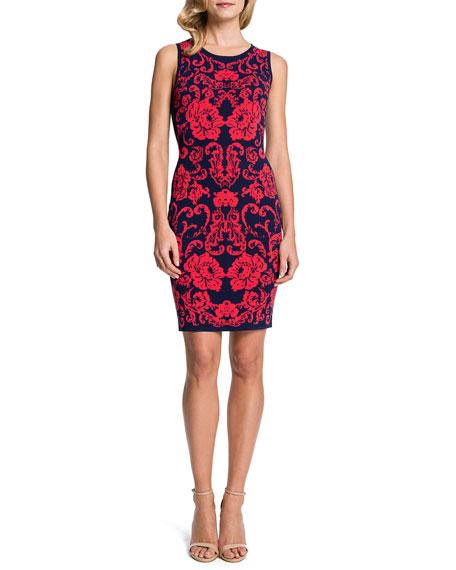 Briella Sleeveless Floral-Print Sheath Dress