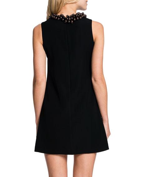 Ada Beaded-Neck A-line Dress
