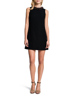 Cynthia Steffe Ada Beaded-Neck A-line Dress