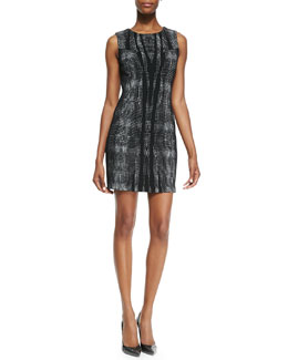 Diane von Furstenberg Mackenzie Sleeveless Body-Conscious Sheath Dress