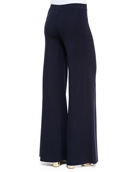 Fit & Knit Palazzo Wide-Leg Pants