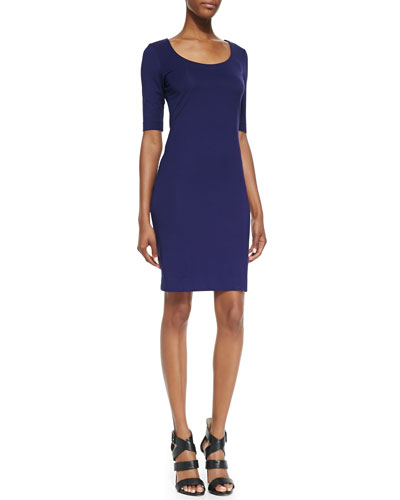 Diane von Furstenberg Raquel Scoop-Neck Sheath Dress