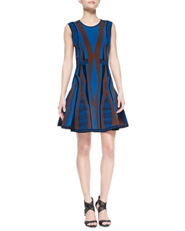 Diane von Furstenberg Gabby Sleeveless Fit & Flare Dress