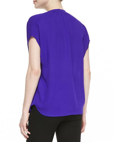 Alana Short-Sleeve V-Neck Shirt
