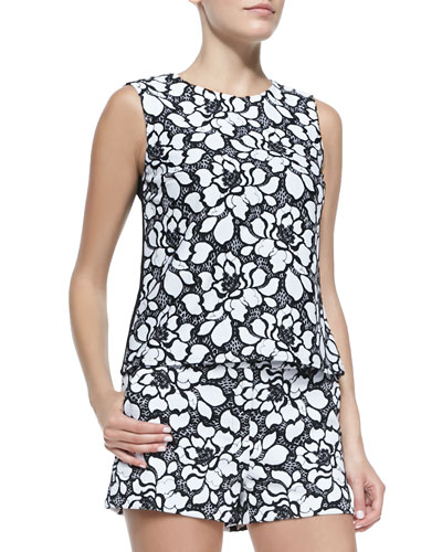 Diane von Furstenberg Betty Lace-Front Tank