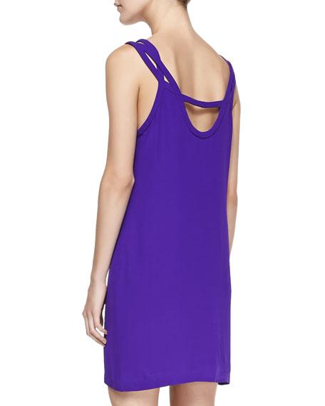Jillian Crisscross Strapless Dress