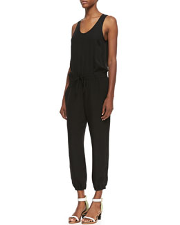 Theory Lortan Silk Double-Georgette Jumpsuit
