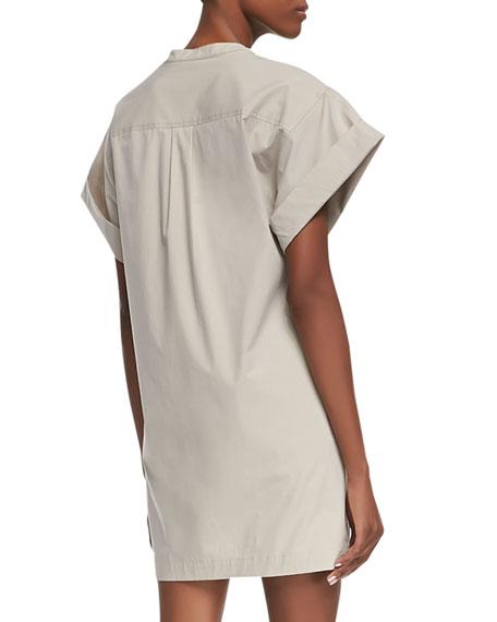 Light Poplin Short-Sleeve Dress