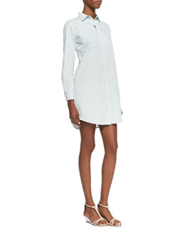 Theory Legano Relaxed Chambray Shirtdress