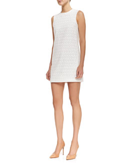 Theory Ellice Perforated Cotton Sleeveless Dress