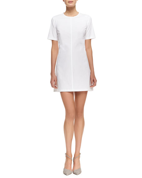 Palatial Twill Short-Sleeve Dress