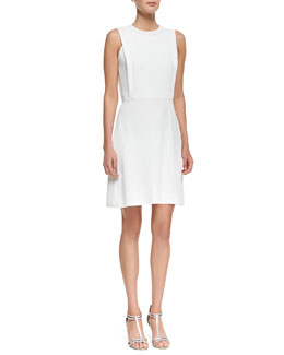 Theory Spiaggia Sleeveless A-Line Dress