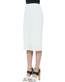 Theory Arabis Knit High-Waist Skirt