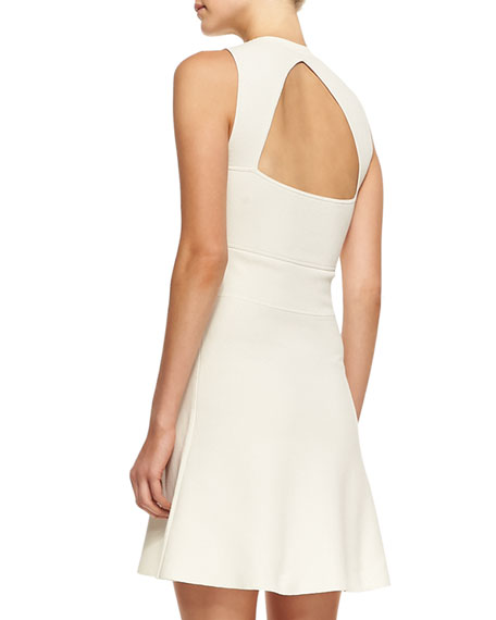 Prosecco Flared Sleeveless Crepe Dress