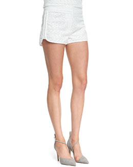 Theory Ellice Eyelet Cotton Shorts