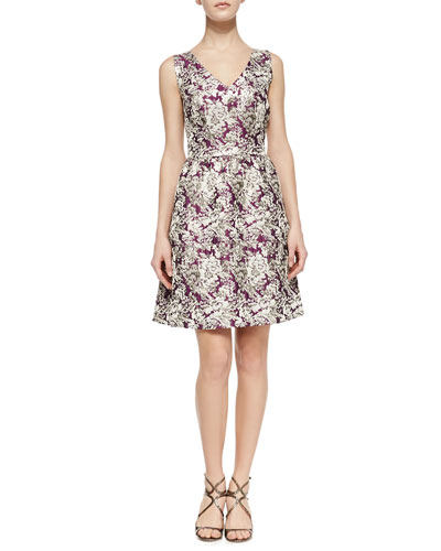 Laundry by Shelli Segal Jacquard Fit-&-Flare Dress