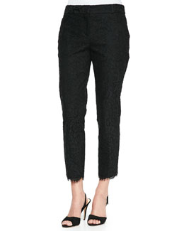 kate spade new york jackie lace capri pants