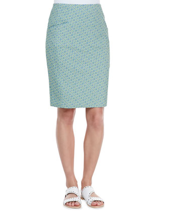 Orchid Printed Pencil Skirt