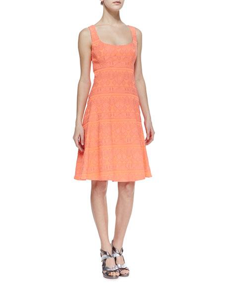 Synthesizer Pattern-Stripe Dress