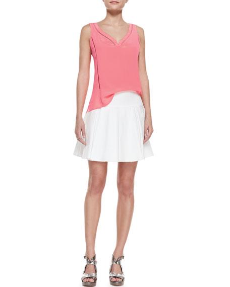Bliss Pleated Twill Full Skirt