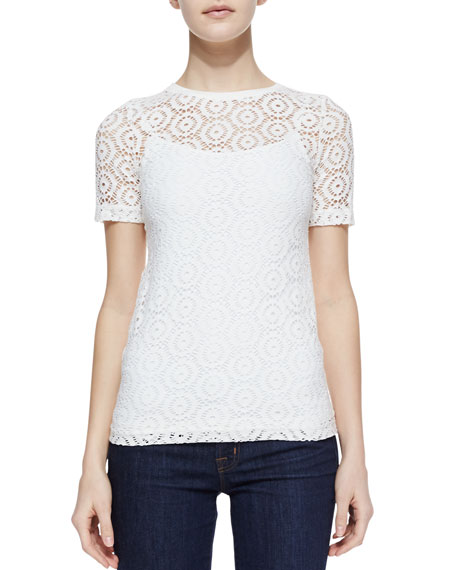 Short-Sleeve Lace Tee