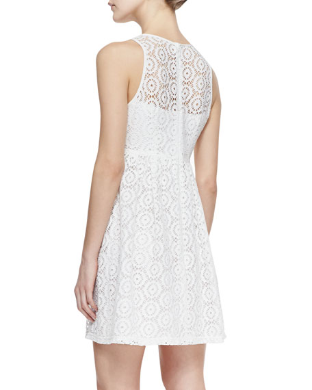 Delicate Crochet-Overlay Dress