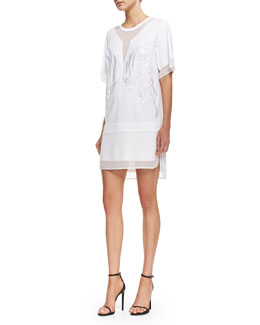 Robert Rodriguez Dandelion Embroidered Dress