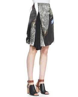 Reed Krakoff Reed Audubon Asymmetric Skirt