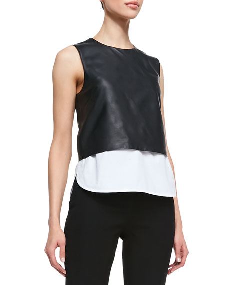 Easeful Hodal L Leather Crop Top