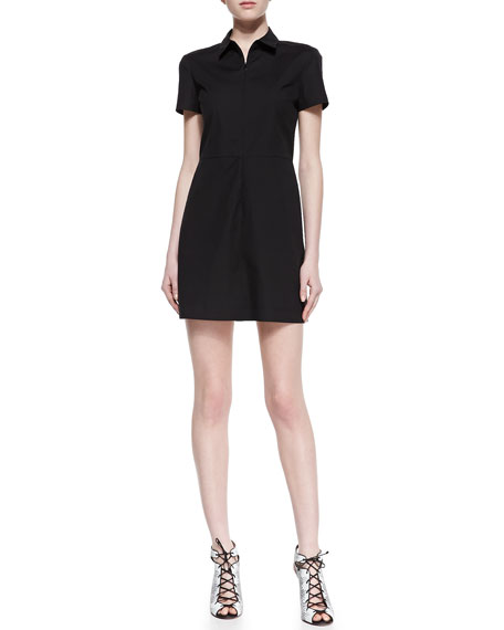 Palatial Short-Sleeve Dress