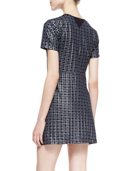 Ichart Waffle-Textured Twill Dress