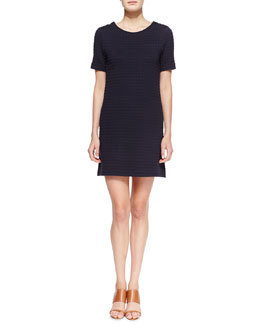Theory Ovar Broxin Knit Short-Sleeve Dress