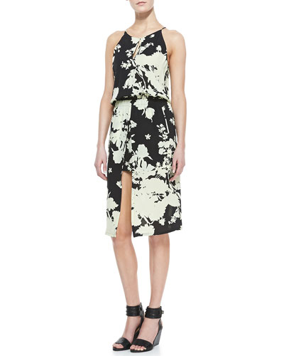 A.L.C. Kanan Floral-Print Silk Dress