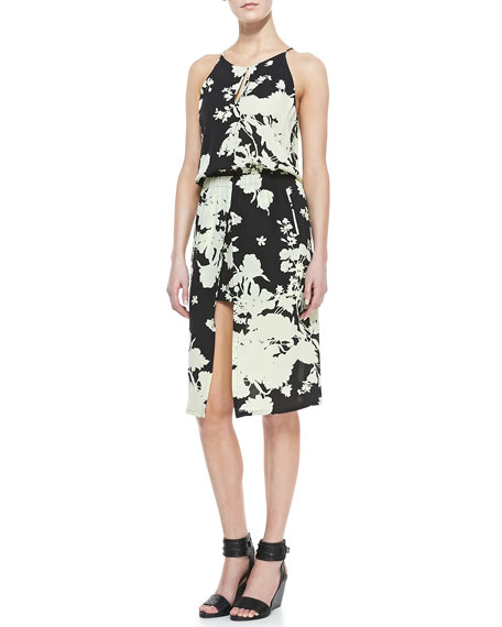 Kanan Floral-Print Silk Dress