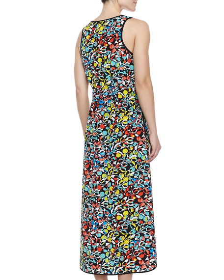 Jungle-Print Crepe de Chine Maxi Dress