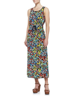 MARC by Marc Jacobs Jungle-Print Crepe de Chine Maxi Dress